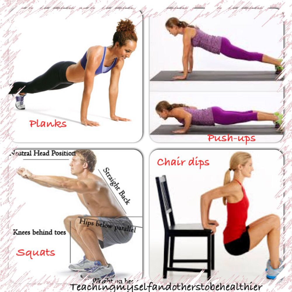If You Don T Have A Lot Of Time To Get In A Workout Try And Get In At Least 2 3 Sets Of 10 For Squats Push Ups And Chair D Stay In