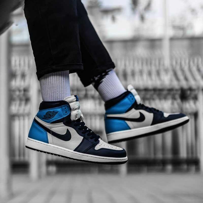 Air Jordan 1 Retro High Og Obsidian University Blue Nike Jordans Pin On Air Jordan 1 Retro Obsidian University Blue