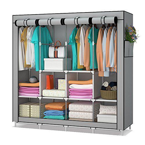 Udear armario de tela y tubo metal para ropa organizador - Organizador armario ...
