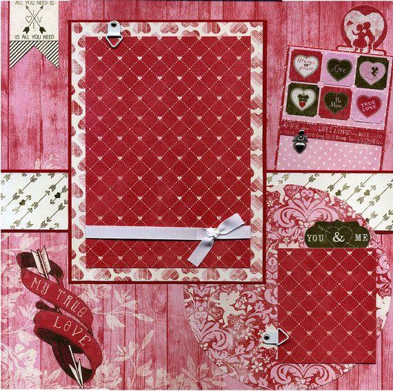 My True Love  Premade Scrapbook Page door SusansScrapbookShack, $15.95