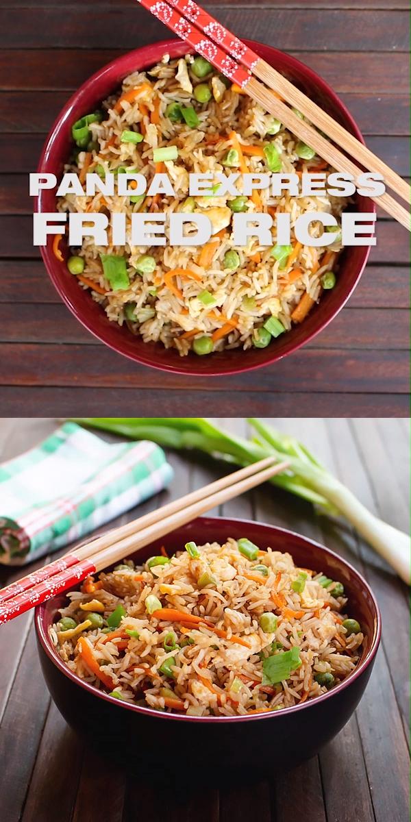 Copycat Panda Express Fried Rice Recipe [+Video] 🐼 MasalaHerb.com