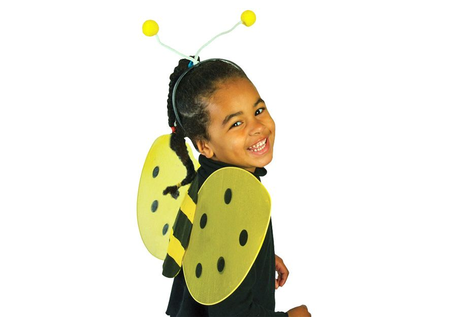 BEE WING/ANTENNAE Set - Nylon and felt wings and headband antennae set.
