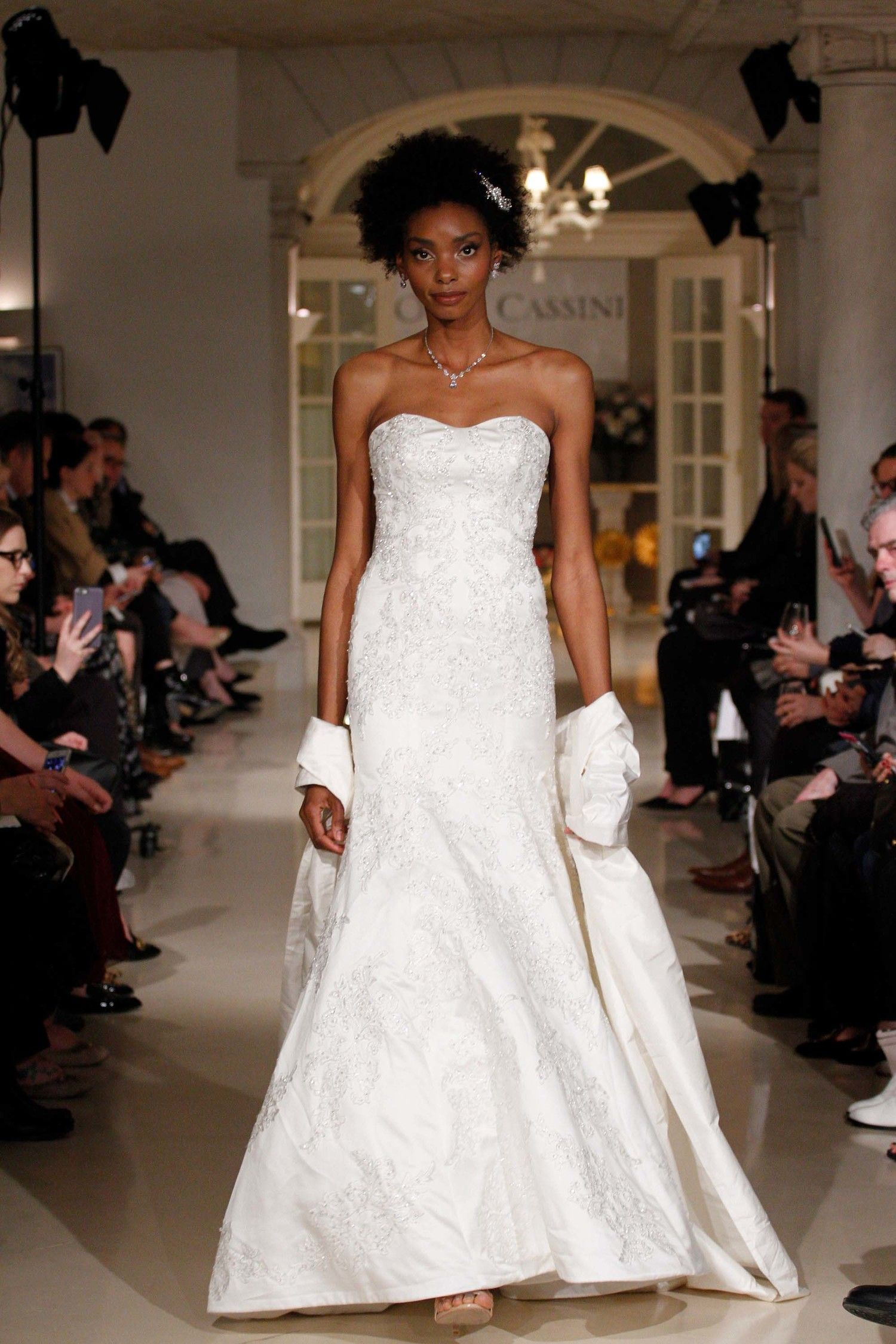 Oleg cassini spring wedding dress collection fall runway