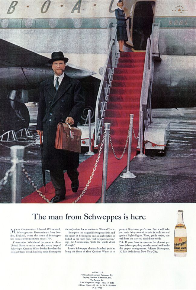 The man from Schweppes is here | Classic Ogilvy Ads (a