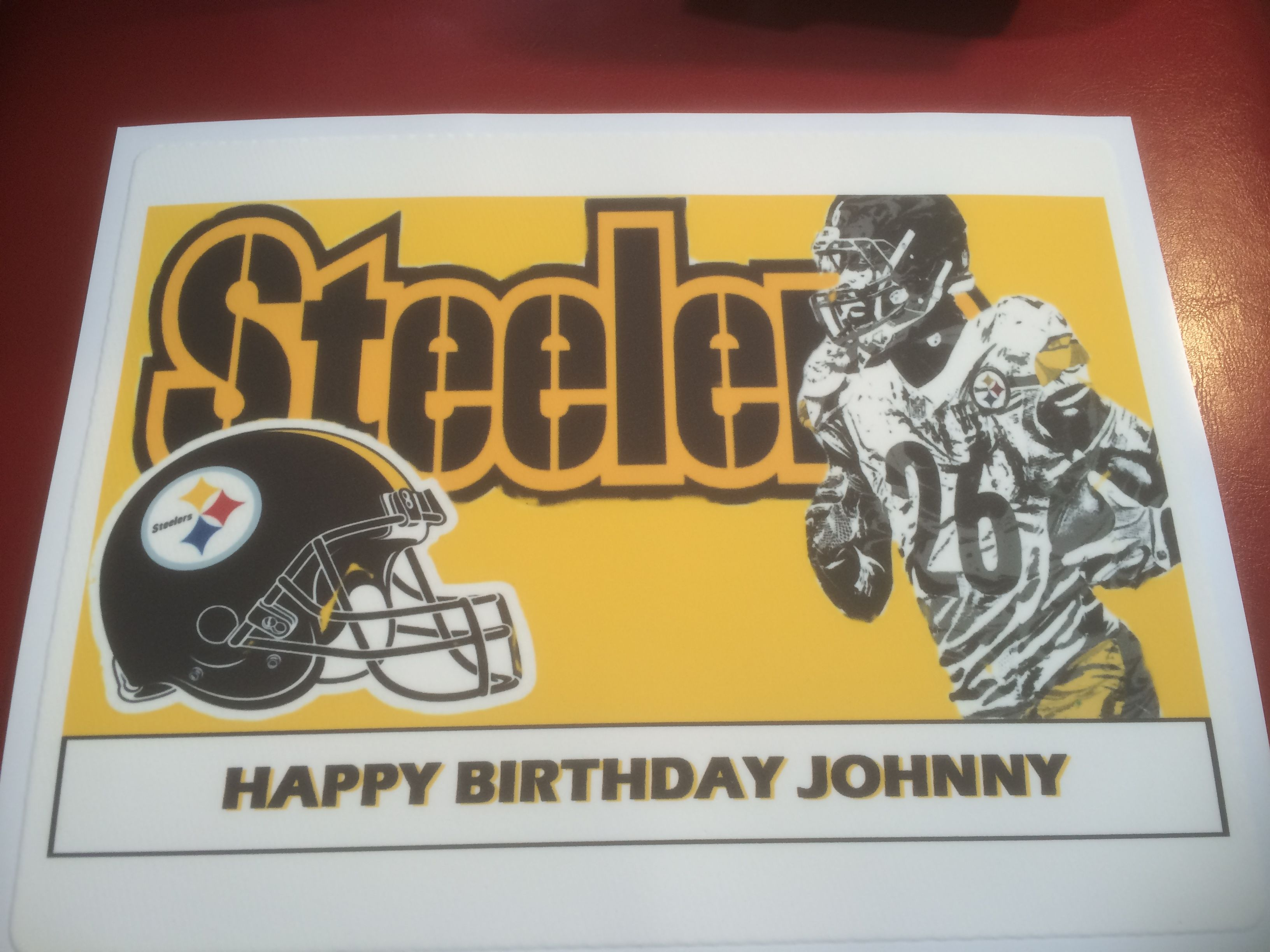 Just completed this Pittsburgh Steelers edible cake topper for a ...
