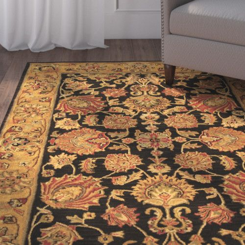 Found It At Wayfair Cranmore Charcoal Gold Area Rug Area Rugs Rugs Floral Area Rugs