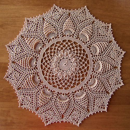 Pineapple Delight Crochet Doily by Patricia Kristoffersen