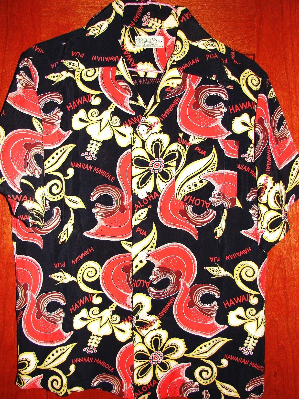 f41edda5 Malihini - 40s Rayon Vintage Aloha Shirt - TheHanaShirtCo | Fresh ...