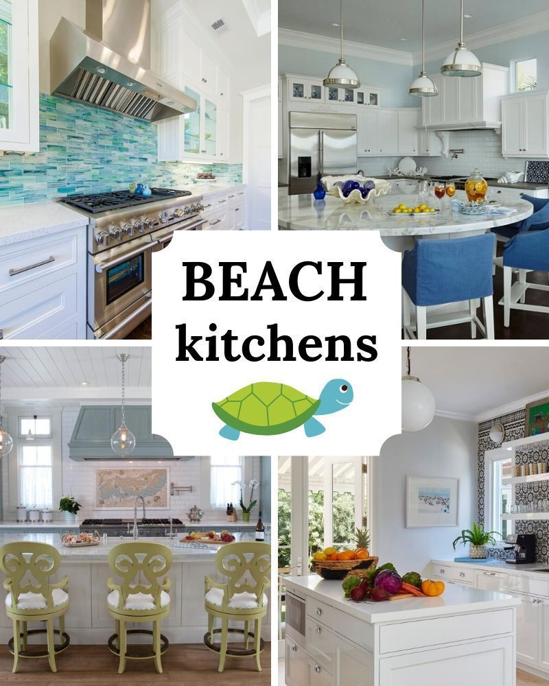 Best Coastal Kitchens Get Beach Themed Kitchens Decor Ideas 2021 Beach Kitchen Decor Beach Decor Living Room Beach Room Decor