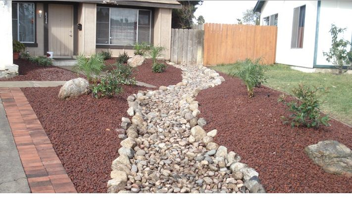 Dryscape Landscape Front Yard Rock Landscaping Ideas For Making Your Home Complete