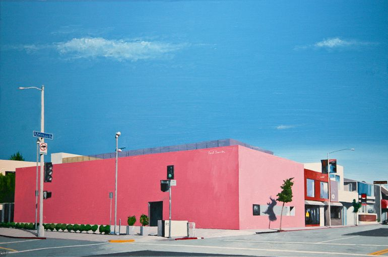 "Saatchi Online Artist: John Tierney; Oil, 2011, Painting ""Paul Smith, Melrose Avenue, LA (#7)"" #JohnTierney"
