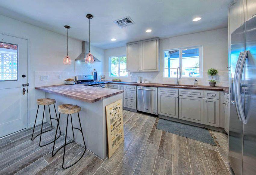Gray Kitchen Cabinets (Design Ideas)   Distressed kitchen ...
