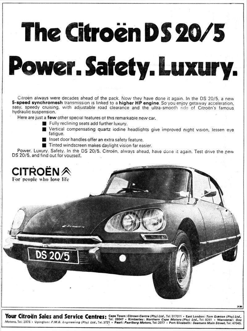 Citroën publicity ds in south africa ds citroen pinterest