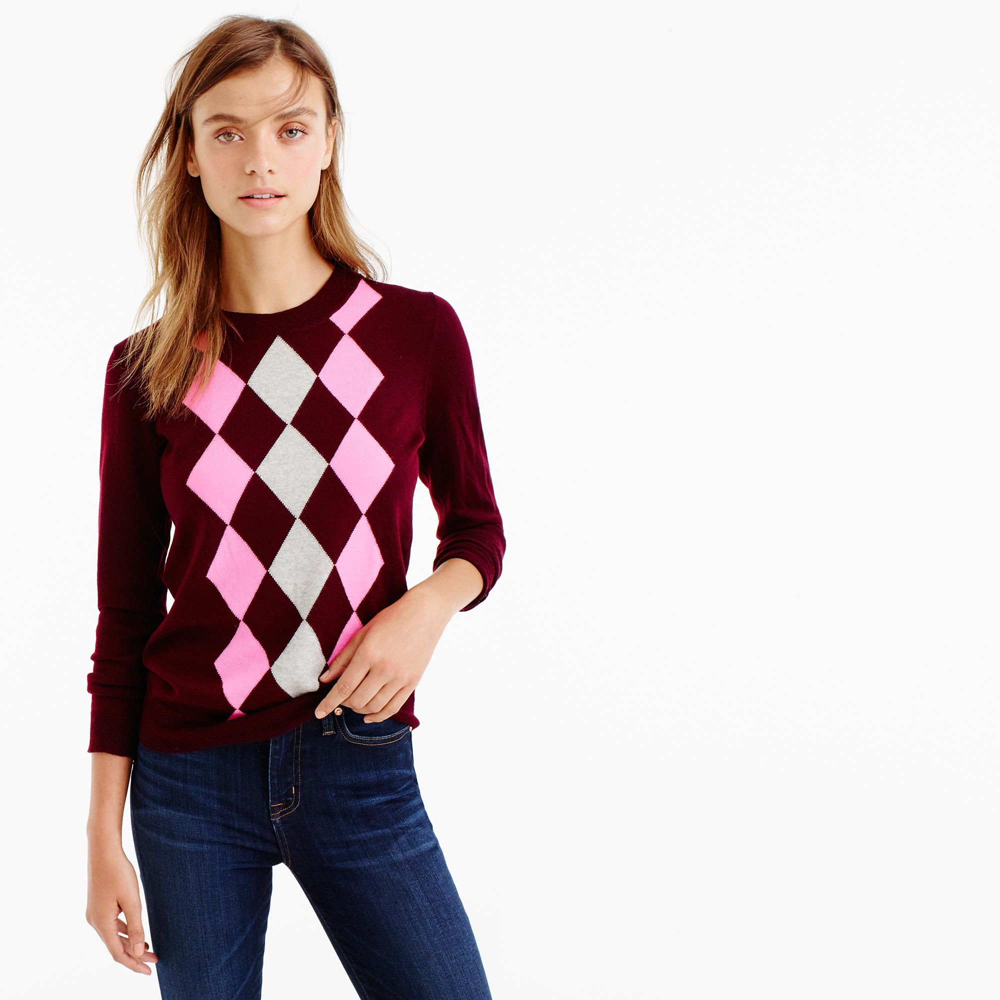 Petite Tippi sweater in argyle : sweaters | J.Crew | Core Style ...