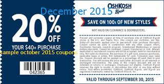 photograph regarding Oshkosh Printable Coupon called Free of charge Printable Discount codes: OshKosh Bgosh Coupon codes very hot discount codes