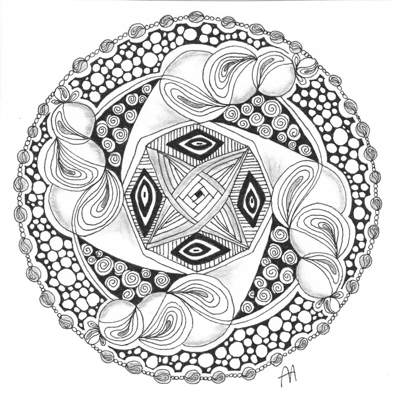 Anne S Tangle Blog Een Mooi Sjabloon Dare 36 Sjablonen Mandala Zentangle