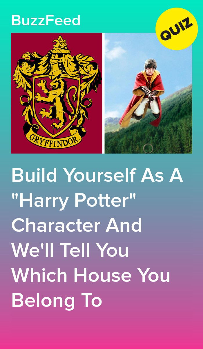 Build Yourself As A Harry Potter Character And We Ll Tell You Which House You Belong To Harry Potter Characters Harry Potter Character Quiz Harry Potter Buzzfeed