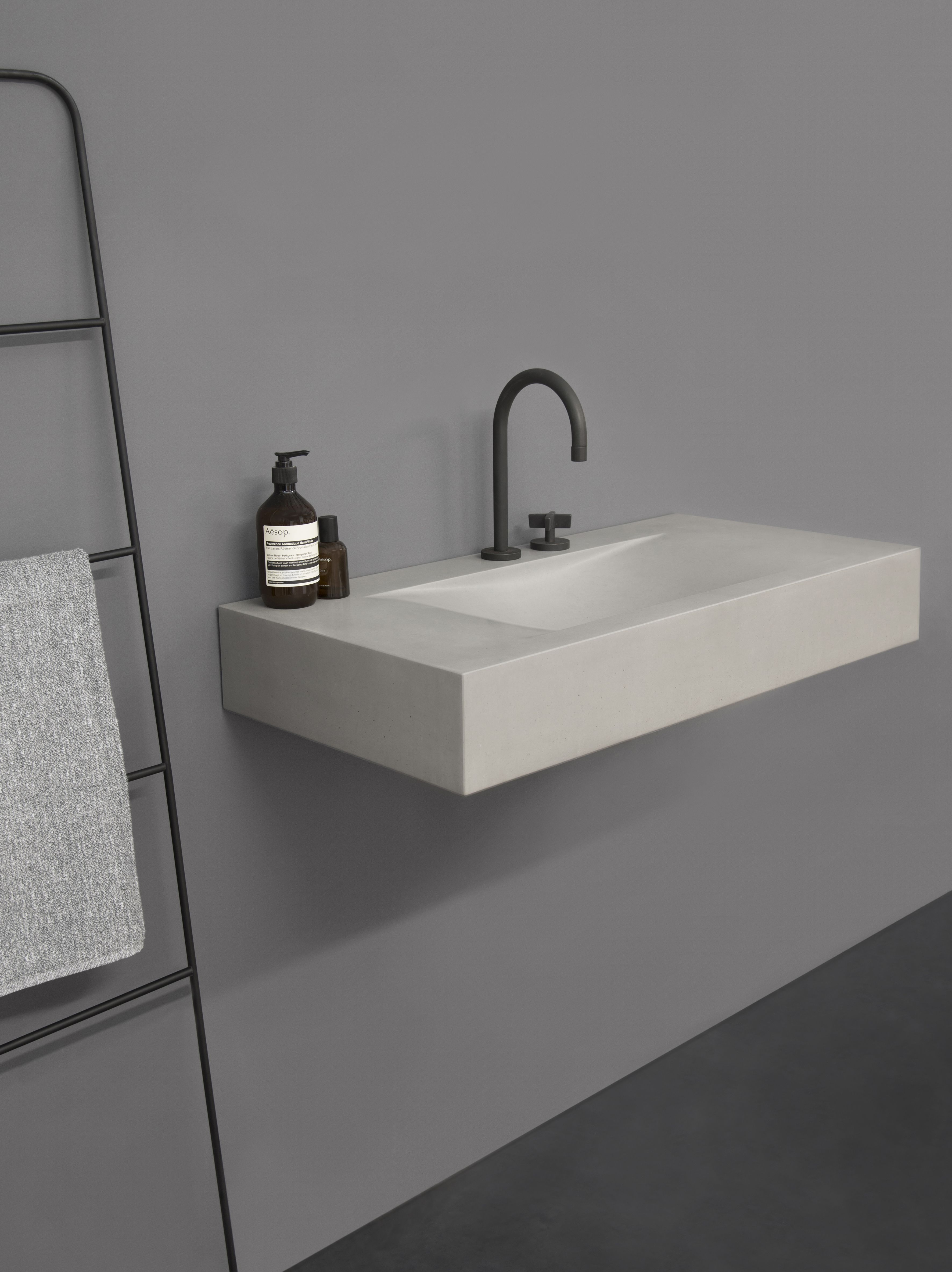 sculptural in presence, the sono basin by kast is defined by the