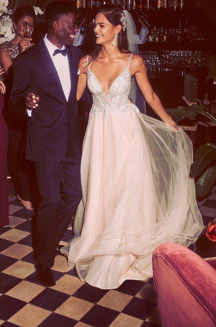 3d2bef9ce154 Sheer Beaded Bodice Organza A-Line Wedding Dress | Galina Signature |  David's Bridal #
