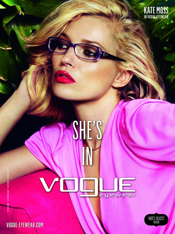 20b0b7ea3ab Kate Moss for Vogue Eyewear Spring Summer 2011 Ad Campaign ...