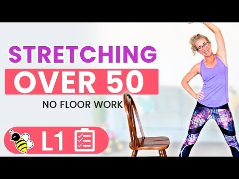 active rest day stretching routine for women over 50 with