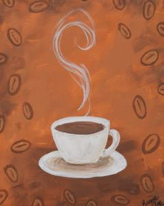 Coffee Cup Diy Canvas Painting Painting Inspiration Painting