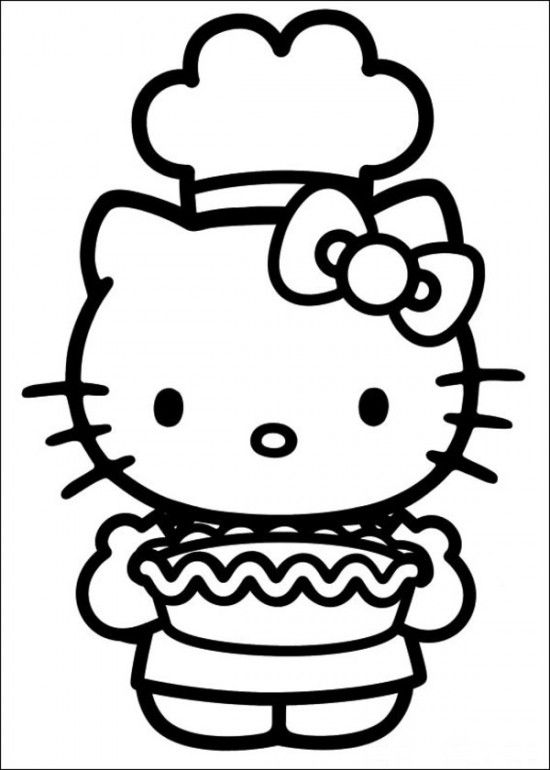 Free Printable Hello Kitty Coloring Pages Picture 59