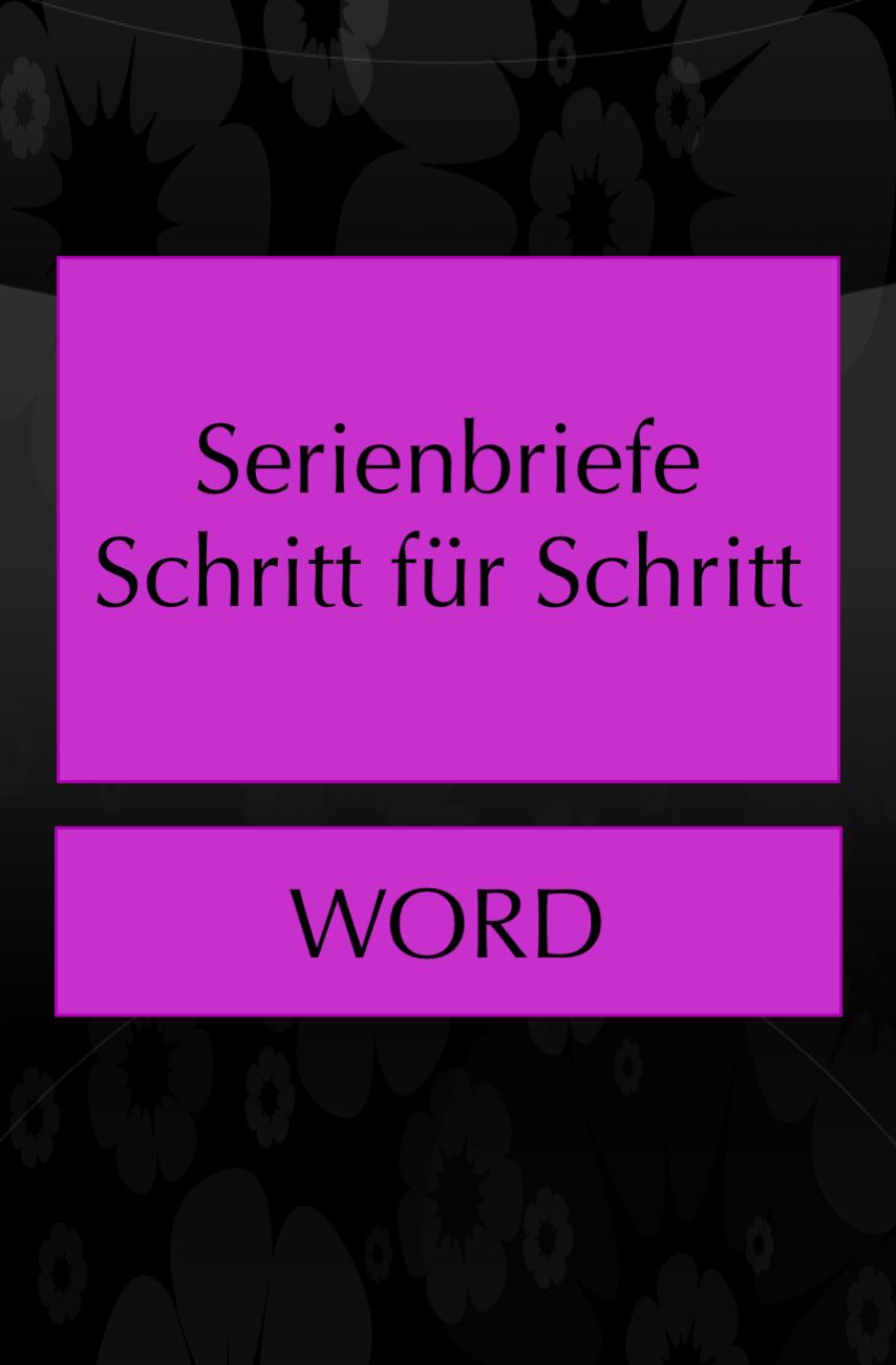 Einen Serienbrief In Word Erstellen In 2020 Kenntnisse Brief Tipps Und Tricks