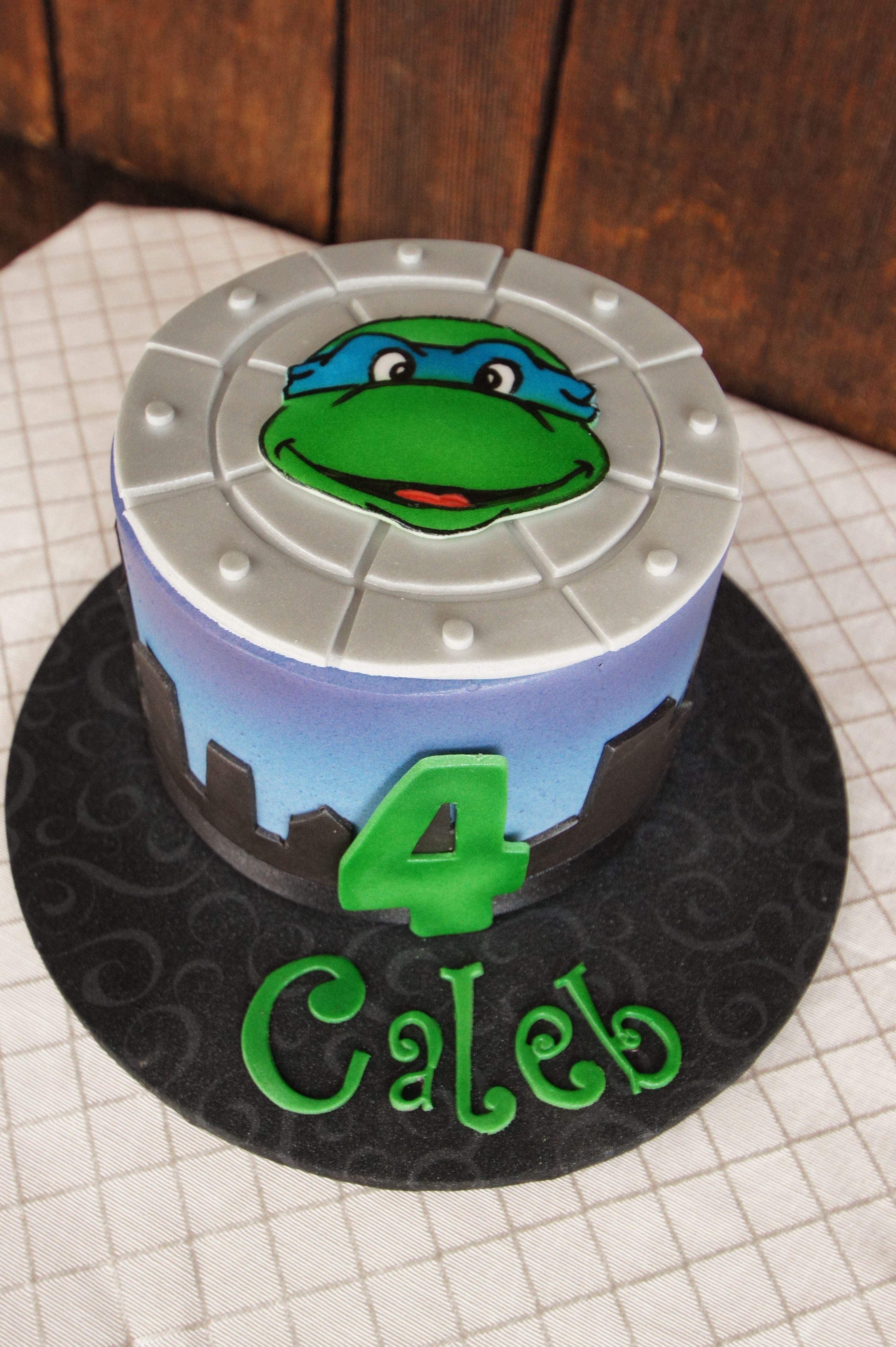 Gmail ninja theme - Teenage Mutant Ninja Turtle Themed Birthday Smash Cake