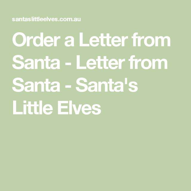 Order A Letter From Santa  Letter From Santa  SantaS Little