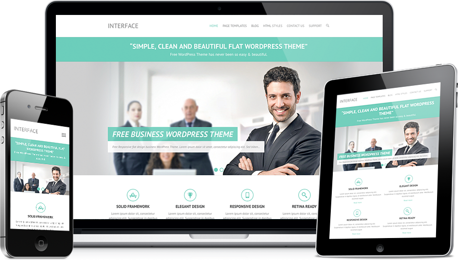 Interface Free Flat Responsive Business Wordpress Theme Professional Wordpress Themes Business Wordpress Themes Wordpress Theme