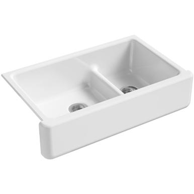 Kohler Whitehaven 36 Apron Farmhouse Kitchen Sink White