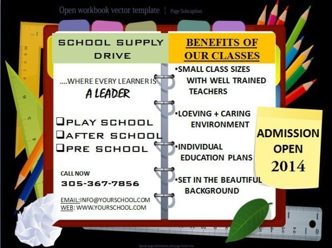 School Flyer Template  Ppt  School Flyer Templates