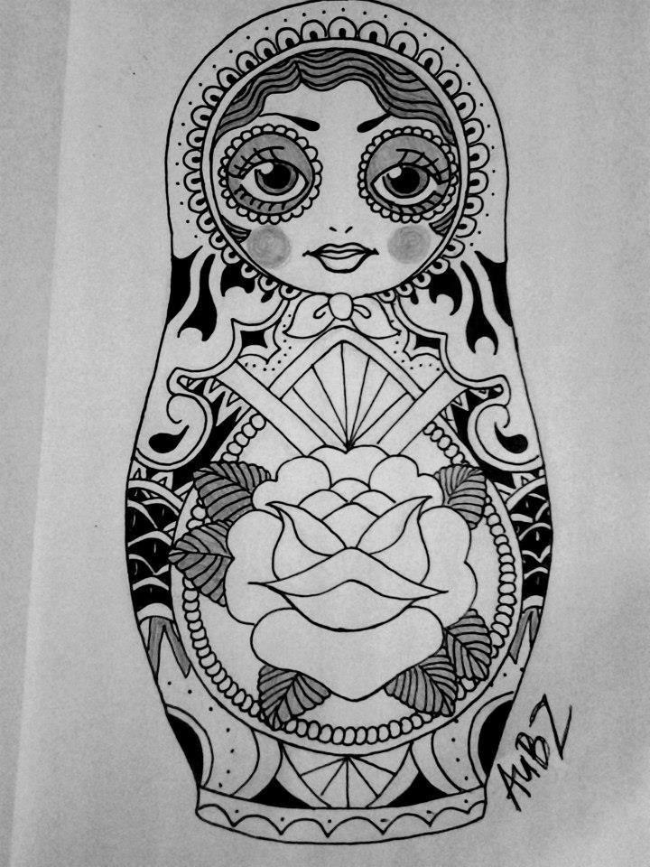 russian doll tattoo google search tattoos pinterest t towierungen mandala t towierung. Black Bedroom Furniture Sets. Home Design Ideas
