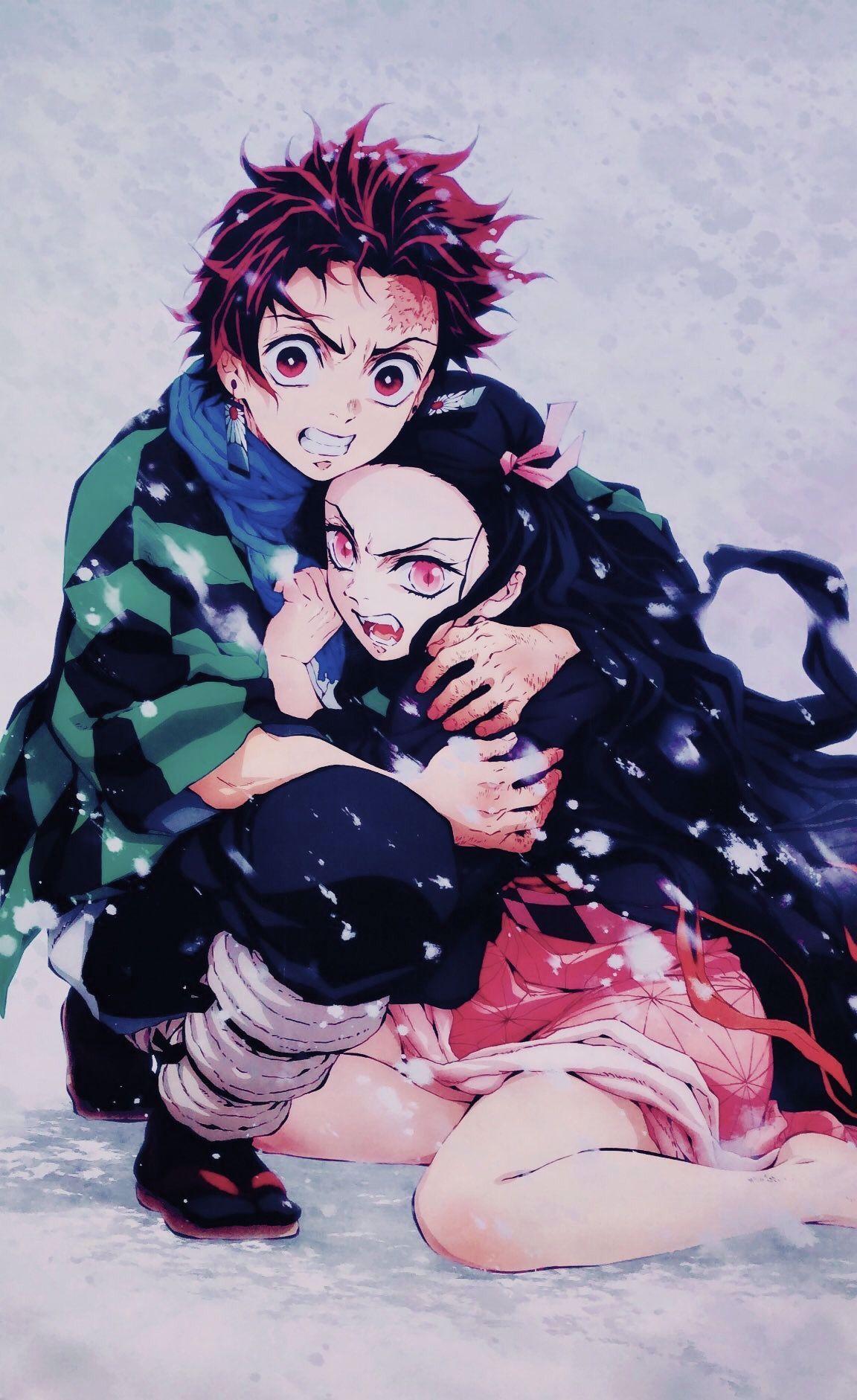 Nezuko Tanjiro Hai Anh Em In 2020 Aesthetic Anime Anime Slayer Anime