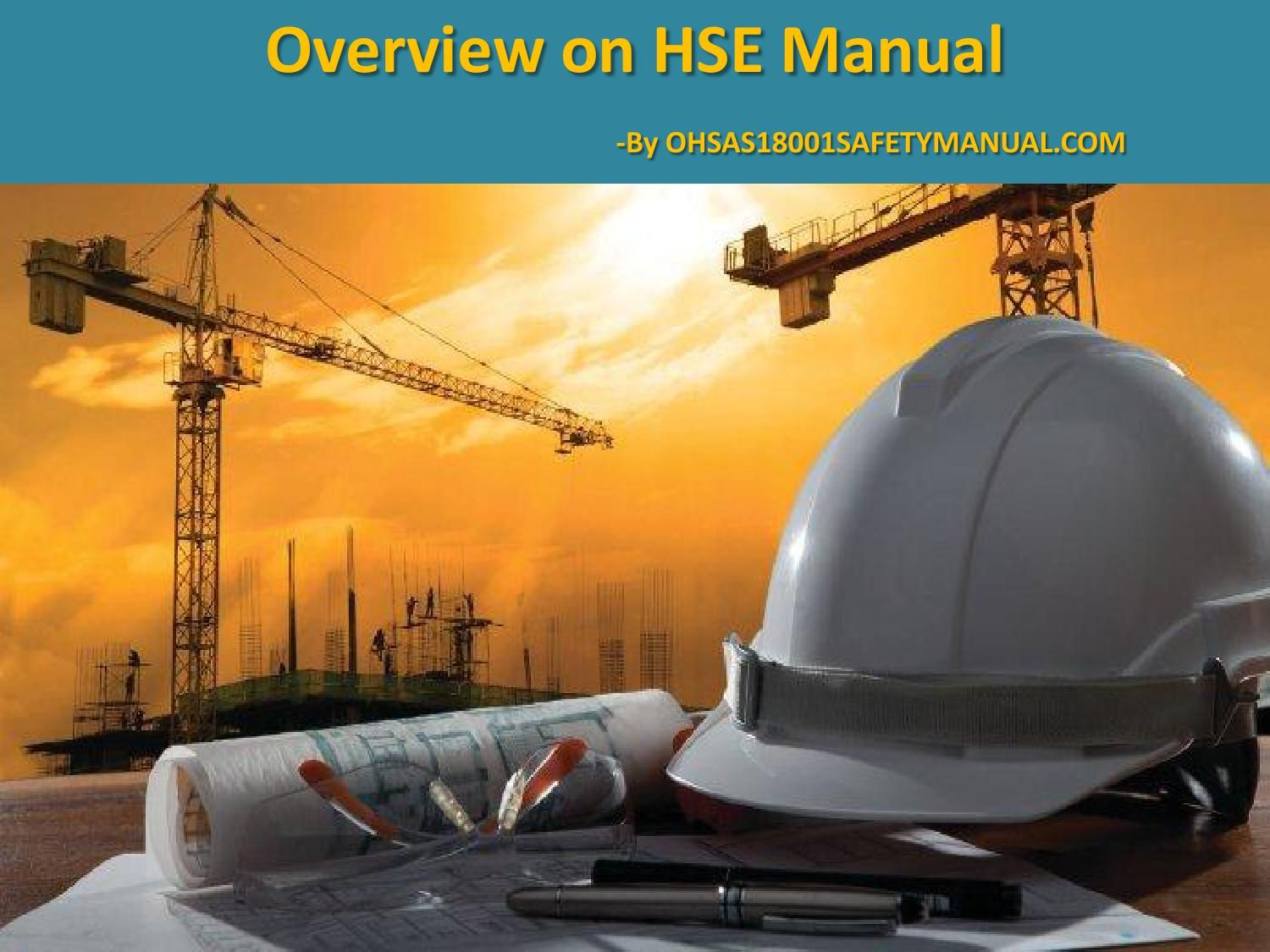 PPT Presentation on HSE Manual | OHSAS 18001 Certification