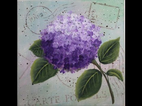 How To Paint Lilacs In Vase By Ginger Cook Beginners Acrylic Painting Tutorial Yout Flower Painting Acrylic Painting For Beginners Acrylic Painting Tutorials