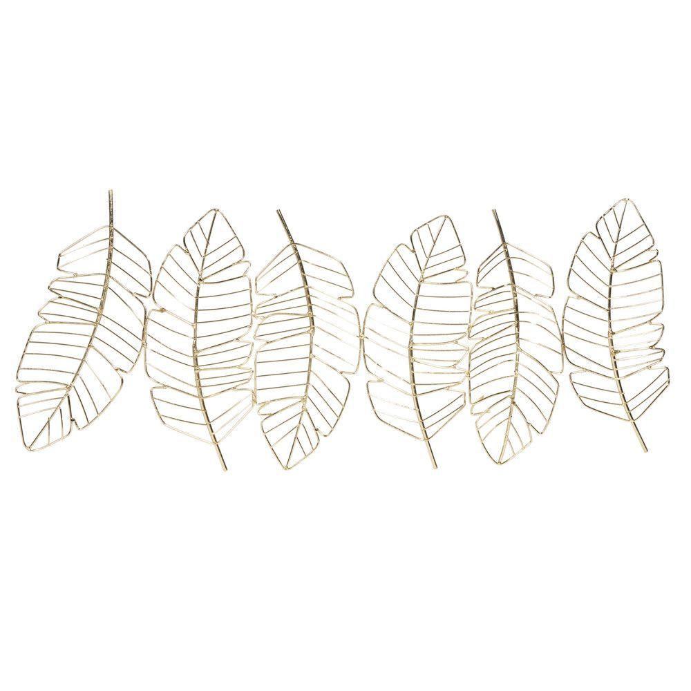 feder wanddeko aus goldfarbem metall 72x29 jetzt bestellen unter https moebel ladendirekt de dekoration wandtattoos wa wanddekoration großflächig für draußen