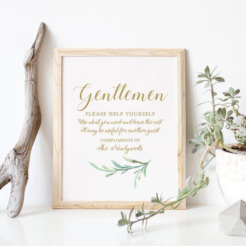 Bathroom Basket Sign, Printable Wedding Basket Sign Ladies