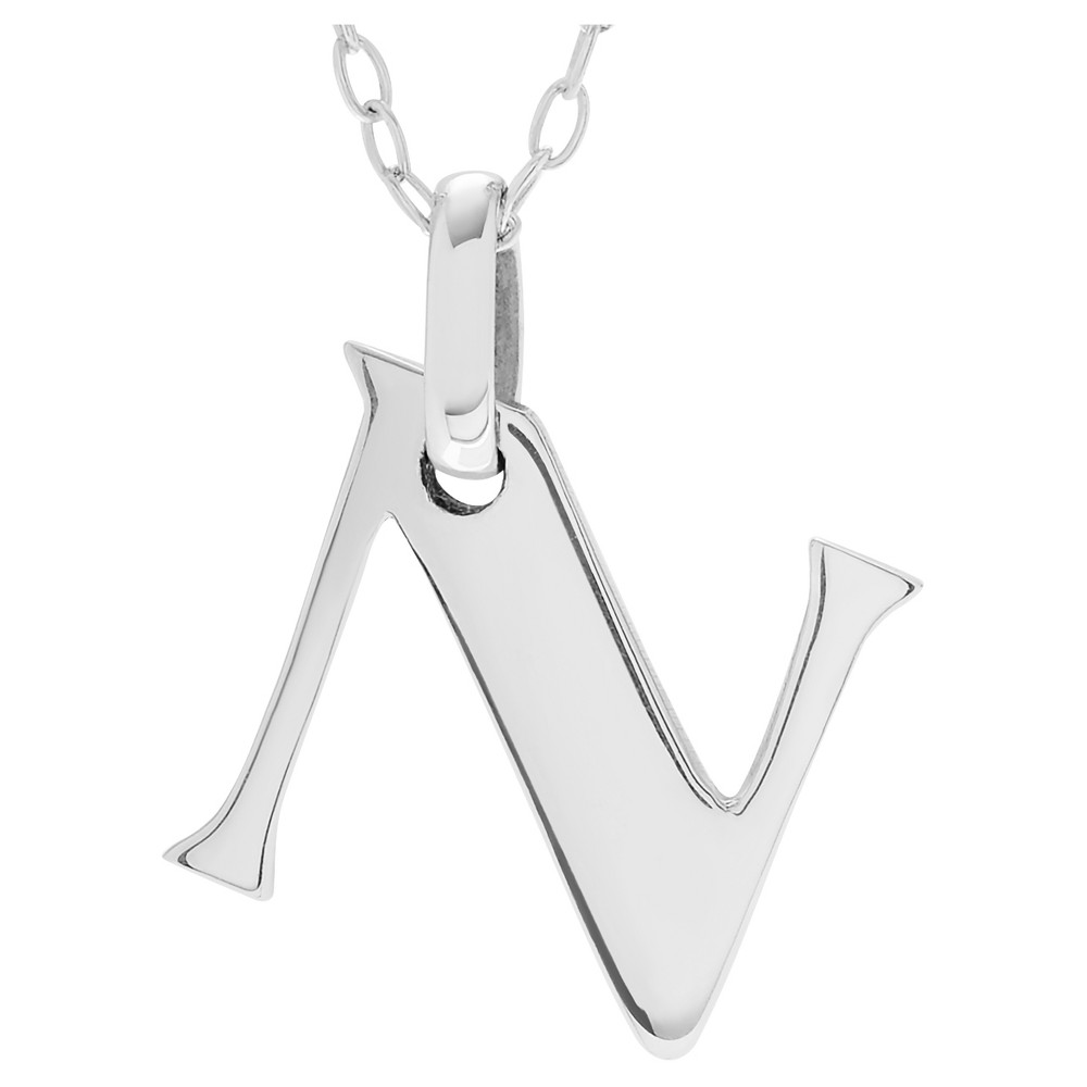 Womenus journee collection initial charm pendant necklace in