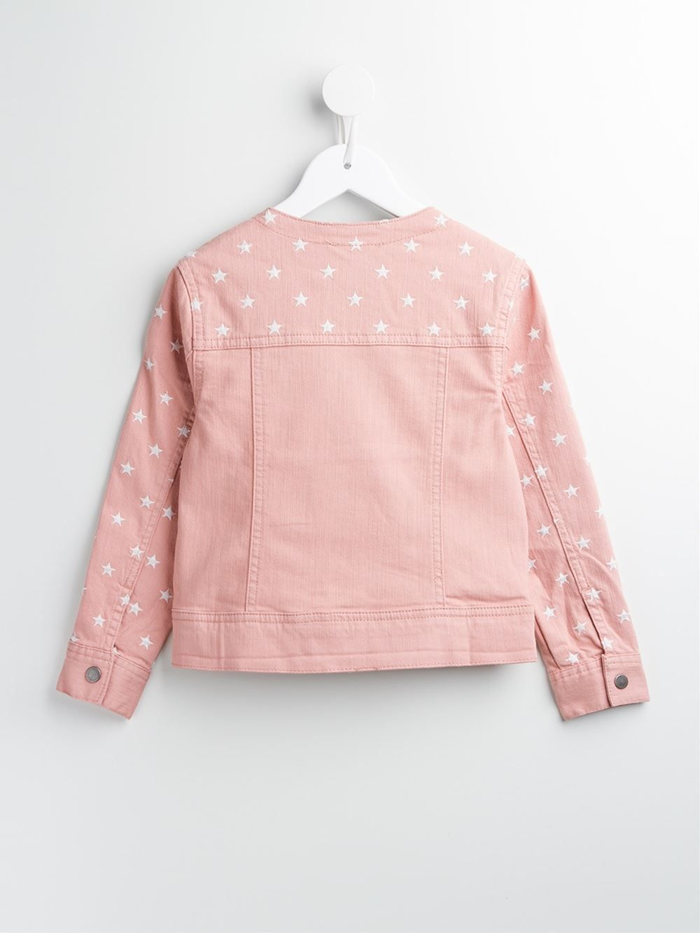 Stella Mccartney Kids Jaqueta jeans com fechamento oculto