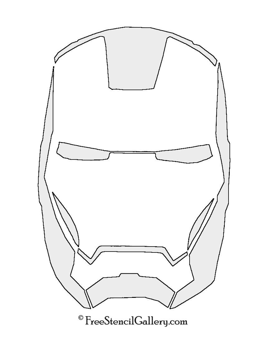 Iron Man Mask Stencil Stencil Stencils Iron Man Coloring Pages