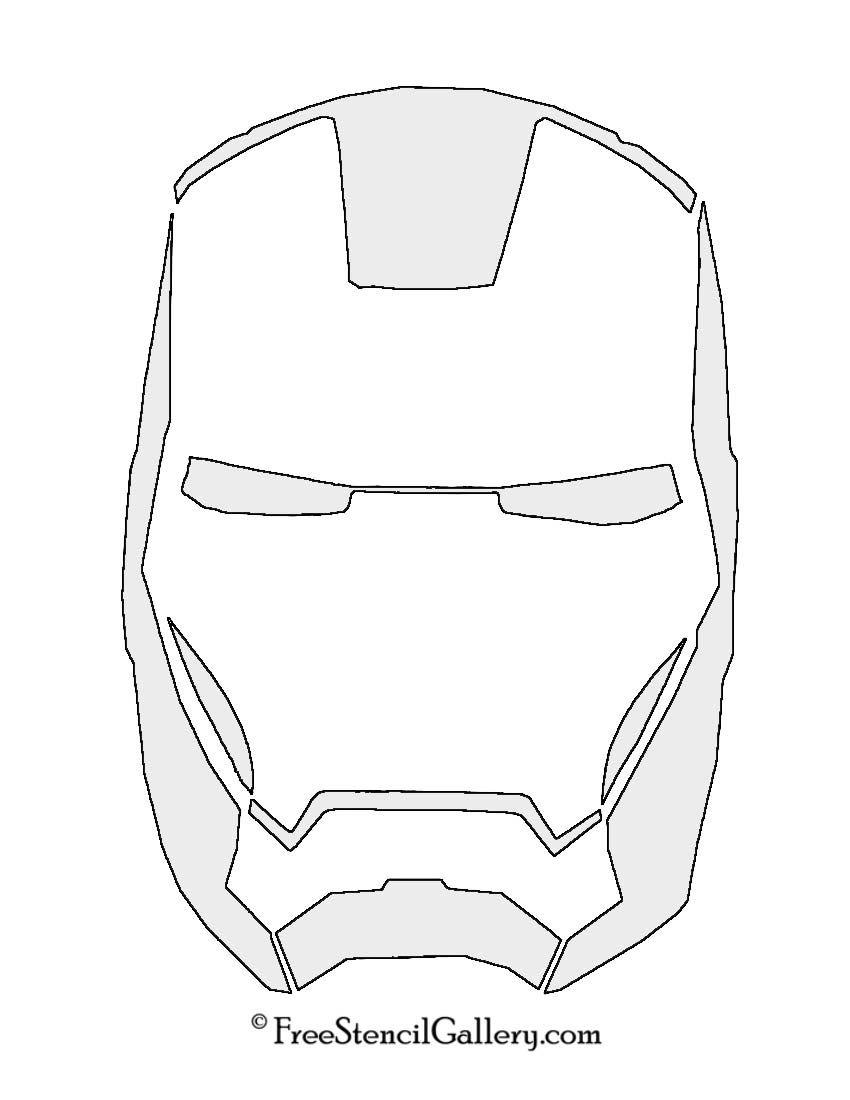 iron man mask stencil 스텐실 pinterest stenciling masking