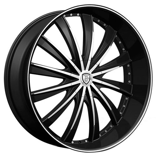 22 Borghini Wheels B19 Black Machined Rims Rims Custom Wheels Wheel