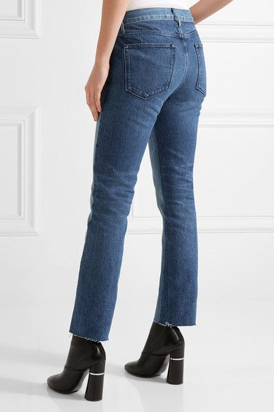 4ab375d70518f8 3x1 - Von Cropped Mid-rise Straight-leg Jeans - Mid denim | Products ...