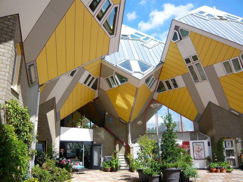 cubic house, Roterdam, Holanda Casas extrañas, Edificios