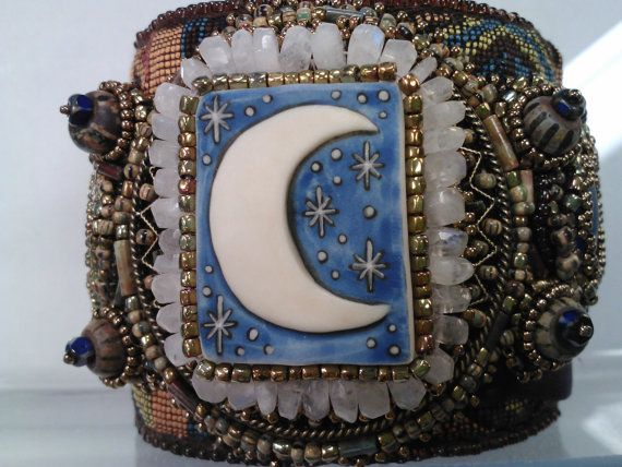 Hey, I found this really awesome Etsy listing at https://www.etsy.com/listing/170650783/moonlight-madness-bead-embroidered-cuff