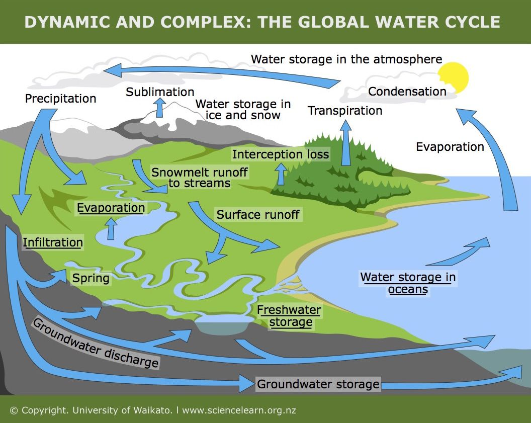hight resolution of humans and the water cycle