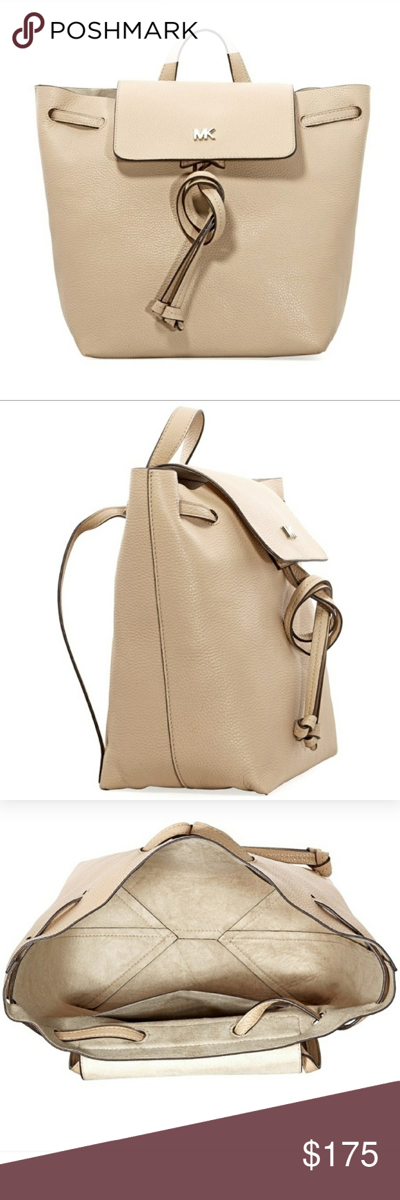 515f3772fbab Michael Kors Junie Medium Flap Backpack Michael Kors Junie Medium Flap  Backpack color is butternut, beautiful transformable bag. Great for any  occasion ...