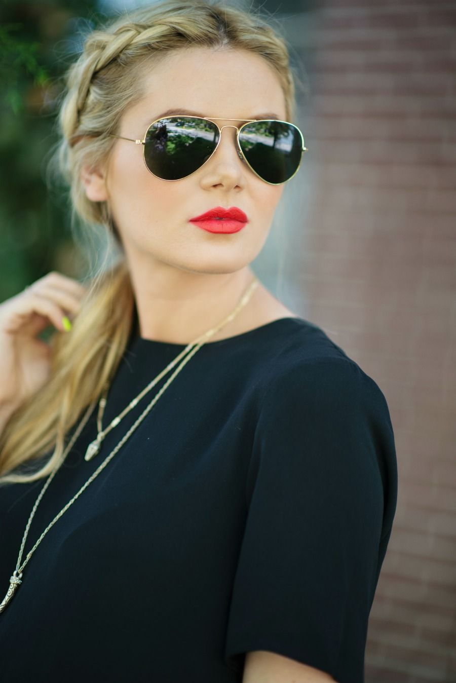 Blonde with Red Lipstick Tumblr